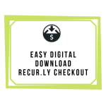 Easy Digital Downloads Recur.ly Checkout