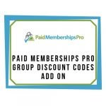 Paid Memberships Pro - Group Discount Codes Add On
